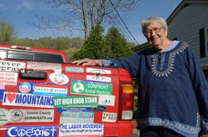 After Coal project advisor Helen Lewis and her famous truck.
