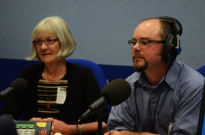 After Coal producer Pat Beavers and director Tom Hansell visit the BBC Radio Wales studio.