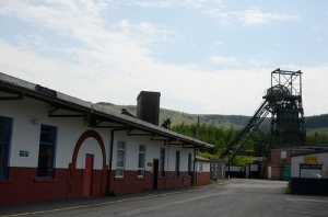 Outside of Tower Mine, Cynon Valley, Wales.