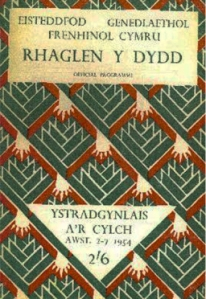The program for the 1954 National Eisteddfod in Ystradgynlais.