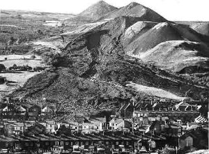 Scene of Aberfan Disaster, 1966. From: http://www.nuffield.ox.ac.uk/politics/aberfan/home.htm