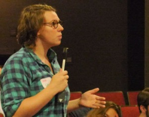 Gabby Gillespie asks a question about women and labor.